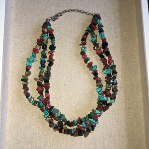Jewelry - Funky rock & stone necklace